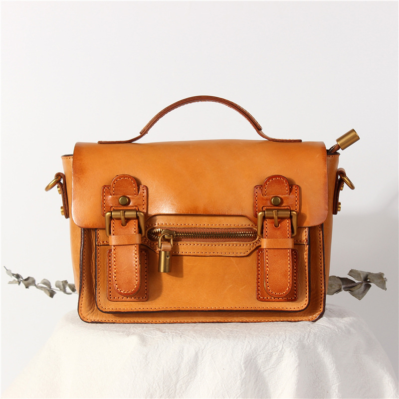 Túi xách đeo chéo da thật handmade