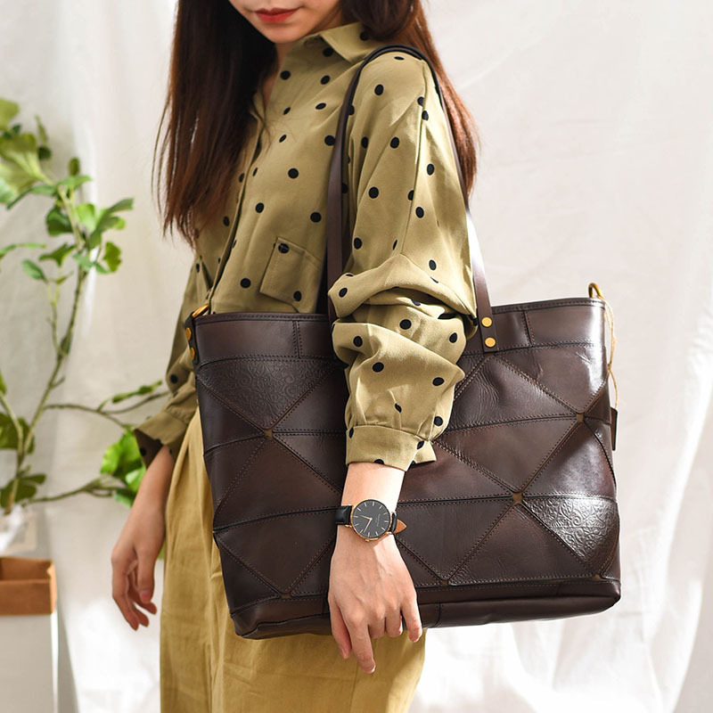 Túi tote handmade da thật Velisa H1023